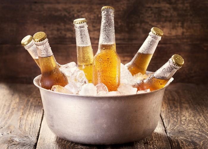 Идеальная температура, для употребления пива, +6 +7°C.