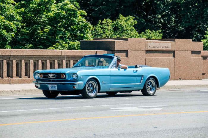 Mustang convertible.