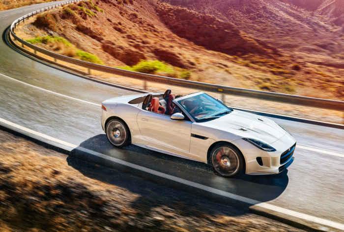 Jaguar F-Type V8S convertible.