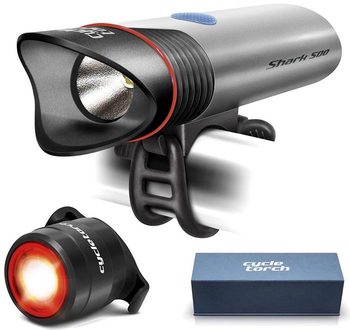 Велосипедный фонарь: Cycle Torch Shark 500 Set.