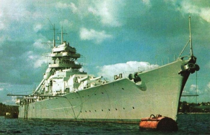 Ненавистный Бисмарк, за которым охотился весь флот.