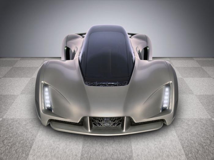 Эко-автомобиль, отпечатанный на суперкаре.