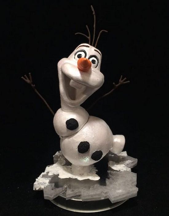 Креативная шкатулка: снеговик Олаф.