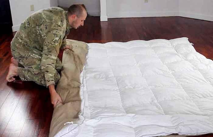 Самое быстрое время одевания пододеяльника на двойное одеяло.