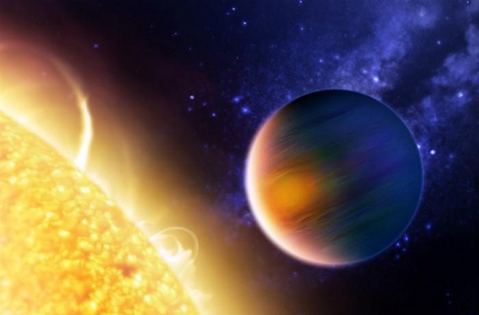 Планета HD 189733b.