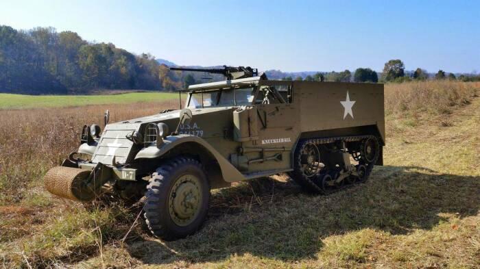 Американский БТР М3 появился в 1940 году и стал самым массовым БТР Второй мировой войны. |Фото: mirtesen.ru.