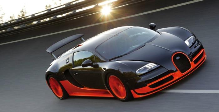Bugatti Veyron - автомобиль, которые не оставляет равнодушных.