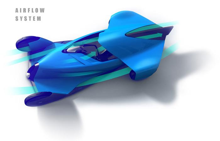 Автомобиль с улучшенной аэродинамикой.