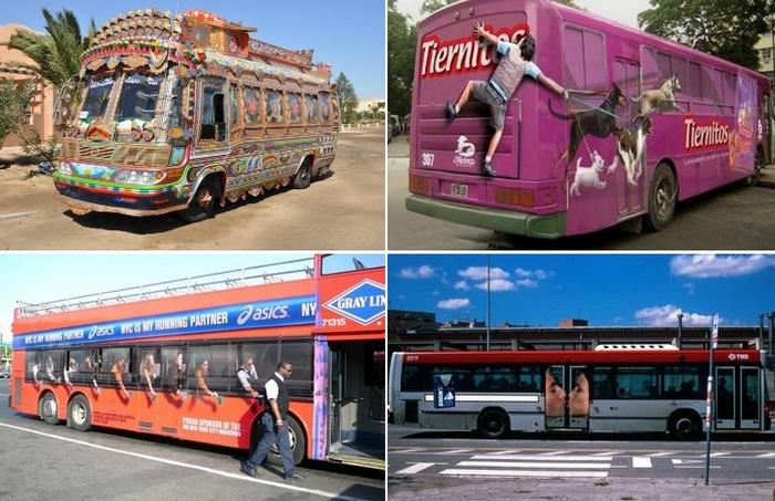 Необычных автобусов, которые не могут остаться незамеченными