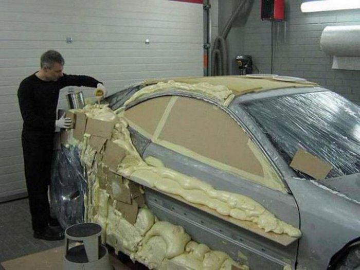 Как сделать обвесы на машину из пены
