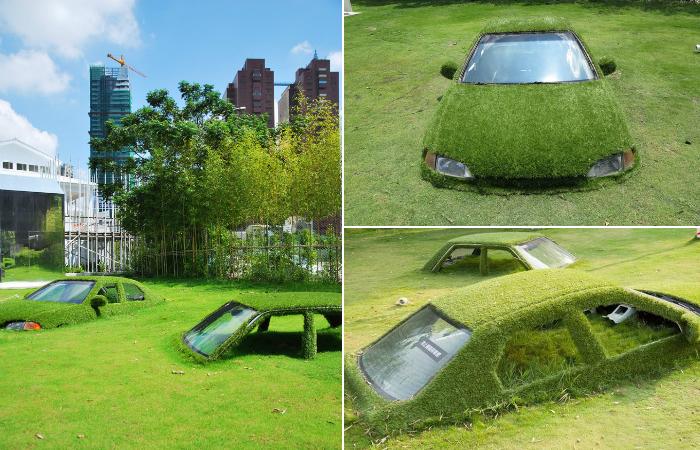 Зелёная инсталляция в Тайване.