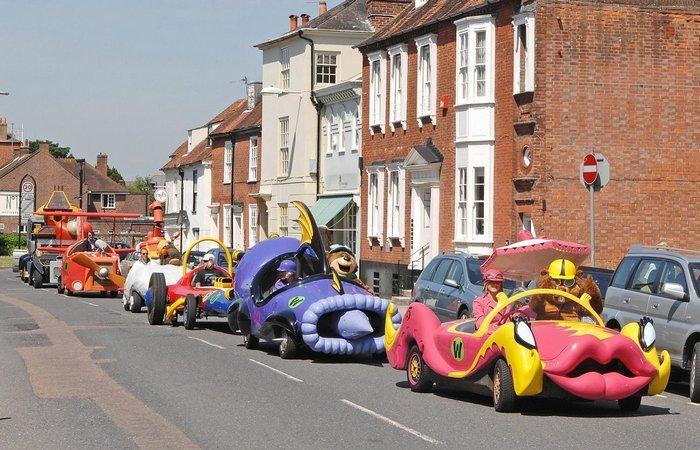 Реальные автомобили, созданные по мотивам мультфильмов.