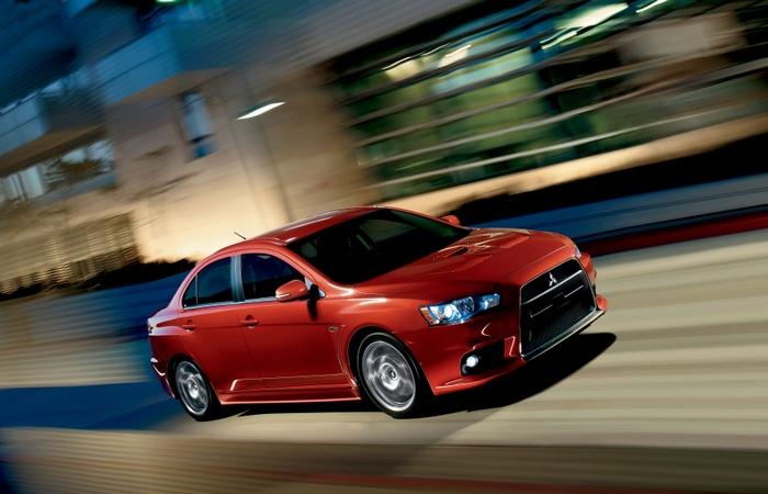 Автомобиль Mitsubishi Evolution.