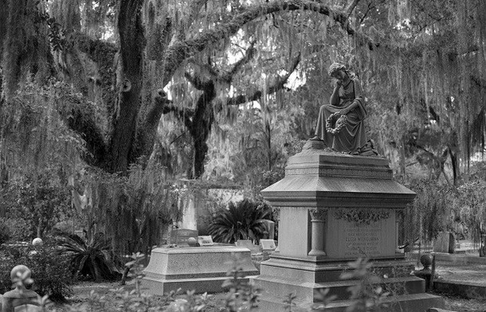 Кладбище в городе Саванна.