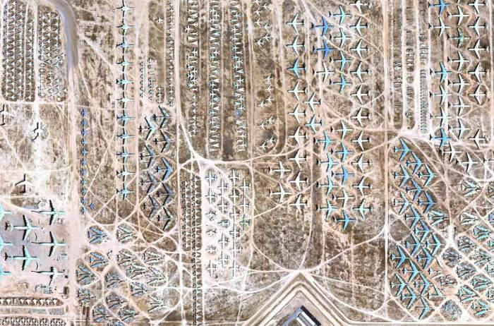 Аризонское кладбище, вид сверху