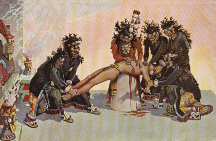 Боги ацтеков питались жертвами.