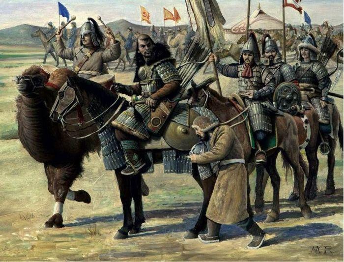 Монгольские воины в представлении современного художника. |Фото: pinterest.ru.