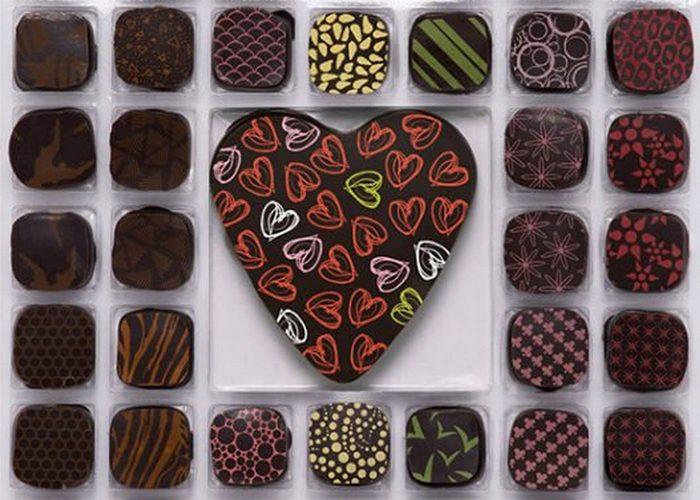Шоколадные конфеты «Richten's Intense Valentine Gourmet Chocolates».
