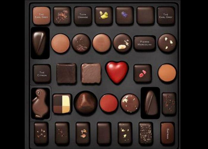 Шоколадные конфеты «Pierre Marcolini».