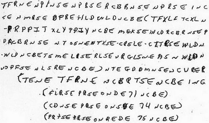 Временно не дешифровано: шифр Маккормика.