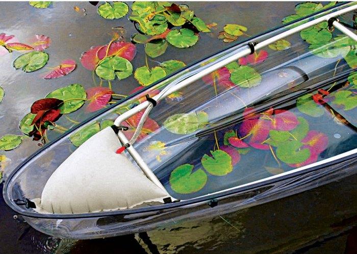 Transparent Canoe Kayak - каноэ из прозрачного поликарбоната.