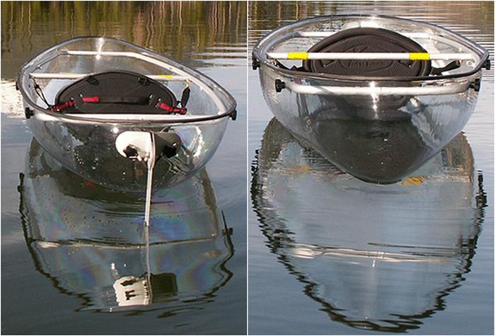Лодка, позволяющая заглянуть под воду