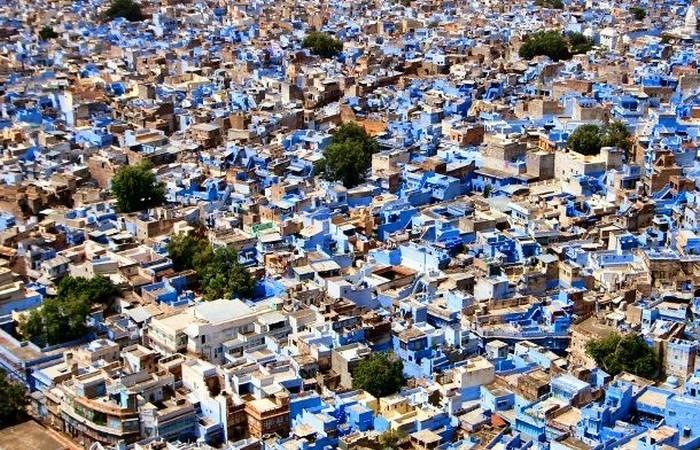 Джодхпур - яркие голубые дома.