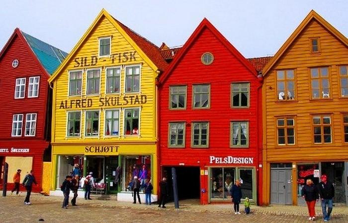 Берген - второй по величине город Норвегии.