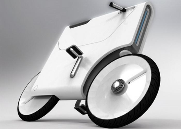 Концепт велосипепеда: Laptop-Charging Bike.