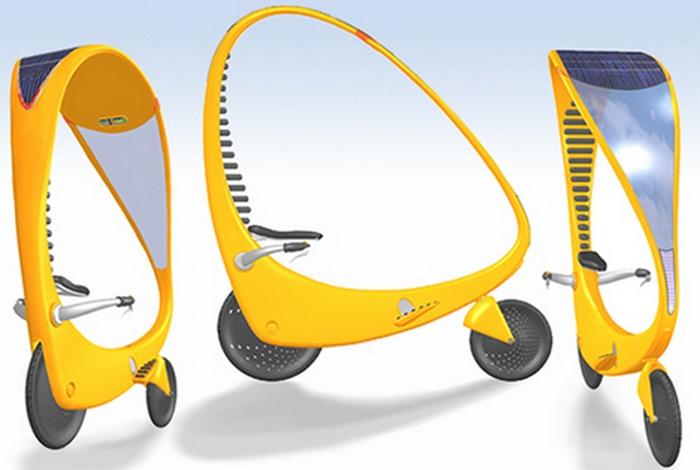 Концепт велосипепеда: Solar Powered Electric Bike.