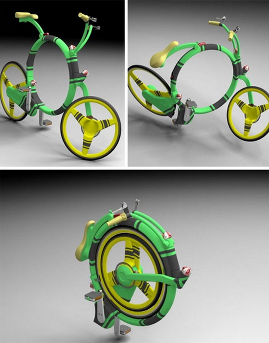 Концепт велосипепеда: Locust Flexible Folding Bicycle.