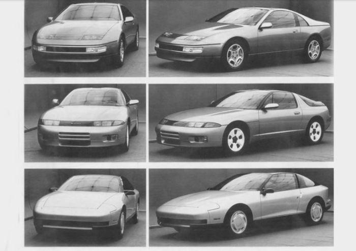 Огромное количество вариантов Nissan 300ZX.