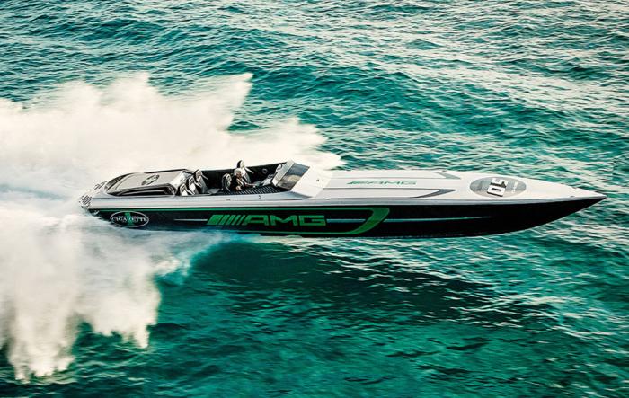 Очень быстра лодка. /Фото: marca.com.