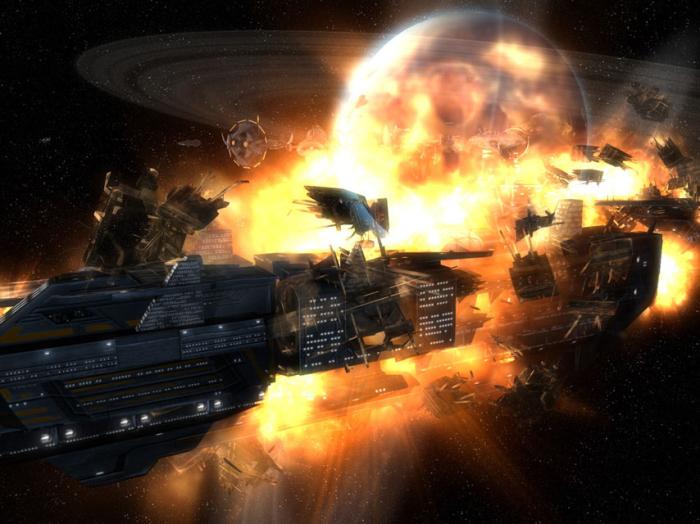 В космосе есть пожары и взрывы.