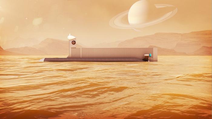 Подводная лодка на Титане.