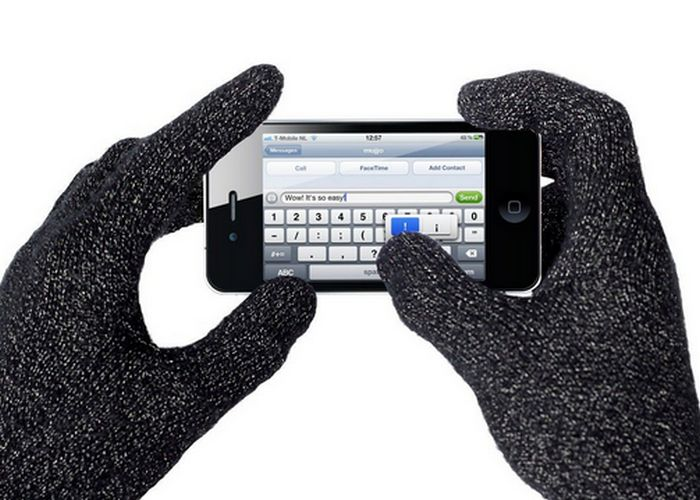 Безумный гаджет: перчатки для сенсорного экрана.