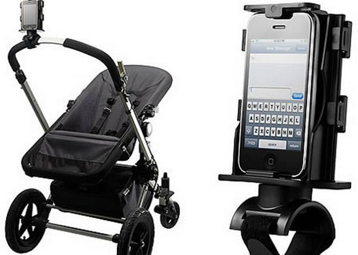 Безумный гаджет: держатель для смартфона для коляски.