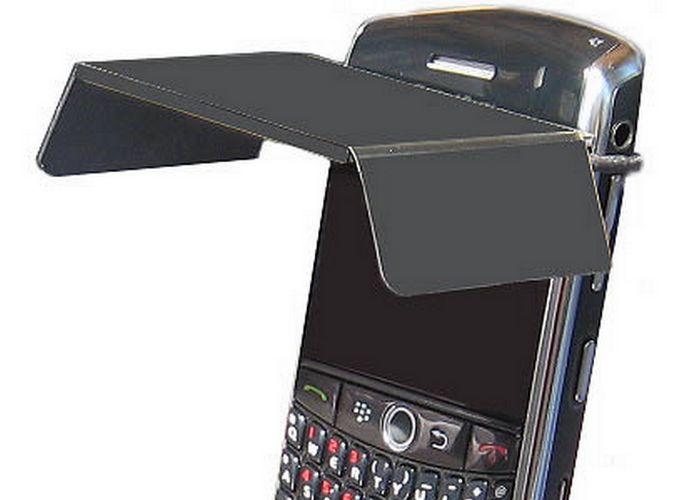 Безумный гаджет: козырек для мобильника.