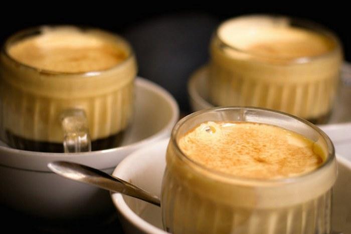 Яичный кофе.