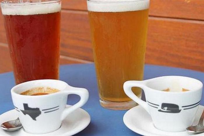 Эспрессо и пиво.