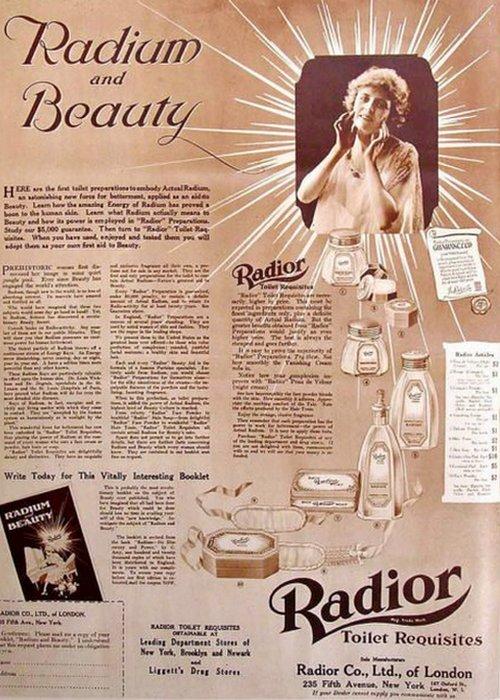 Смертельная мода: радиоактивный макияж.