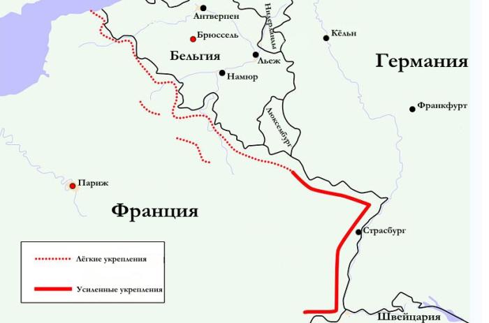 Линия обороны на карте. |Фото: paris1814.com.