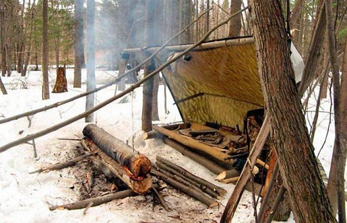 Как сделать костер из одного бревна, который горит целую ночь и дает много тепла