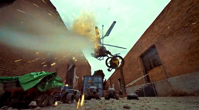 Битва дронов и автомобилей.