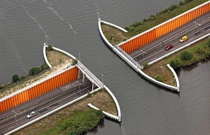 Aqueduct Veluwemeer. Восточная Голландия.