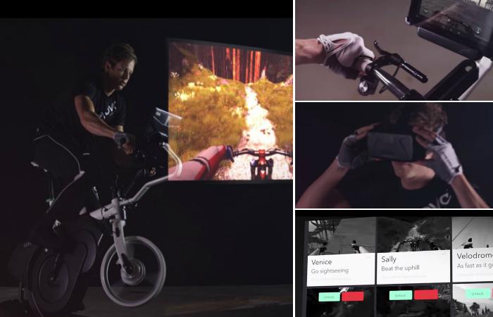 Интерактивный тренажер для фанатов велотрекинга.