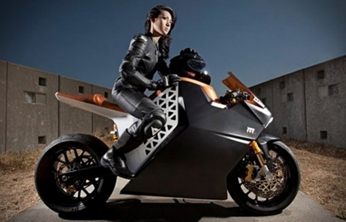 Mission One Electric Motorcycle.