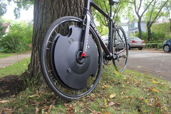 Electron Wheel превратит обычный велосипед в электронный.