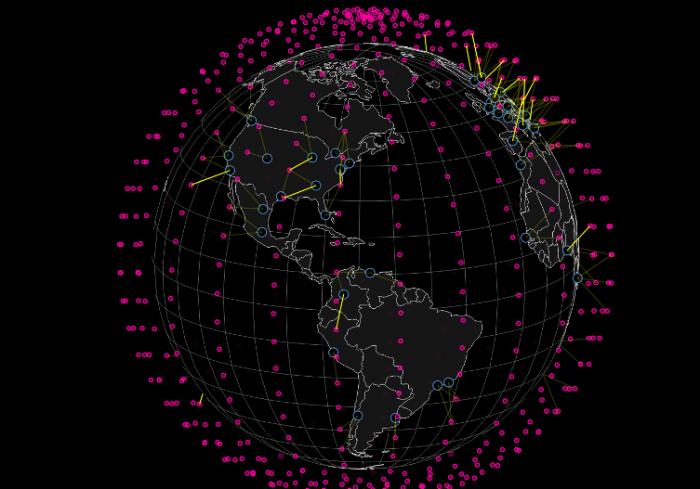 Огромное количество спутников.