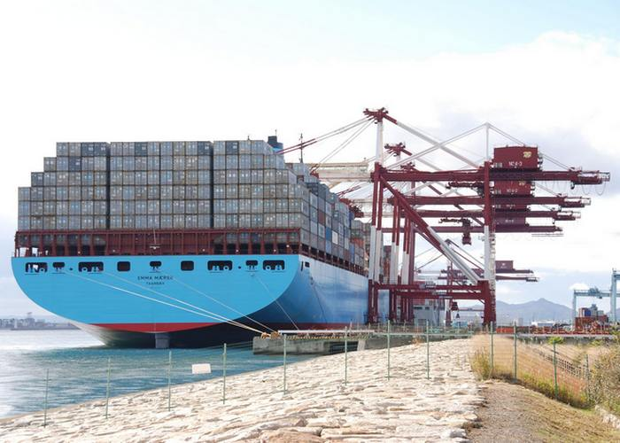 Судно-контейнеровоз «Emma Maersk».